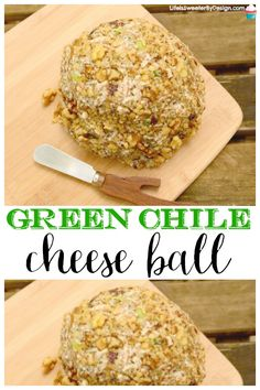 This Green Chile Cheese Ball is a quick and easy cheese ball recipe that serves a crowd. I love the Mexican flavors in this easy cheese ball. Cheese Appetizers, Yummy Appetizers, Appetizer Recipes, Dinner Recipes, Cream Cheese Ball, Crispy Oven Fried Chicken, Cheese Ball Recipes, Best Cheese Ball Recipe, Potato Recipes