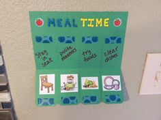 Chart to reinforce good mealtime behavior