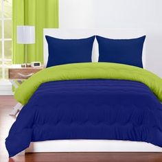 Blue and Green Bedding Set