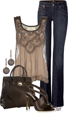 This outfit rocks- love the top!!