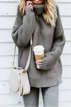 FUNOC Women Long Sleeve Casual Winter Jumper Turtleneck Pullover Knitted Sweater >>> You can find more details by visiting the image link. (This is an affiliate link) Casual Sweaters, Winter Sweaters, Sweaters For Women, Oversized Sweaters, Cozy Sweaters, Pullover Outfit, Pullover Sweaters, Knitting Sweaters, Diy Mode