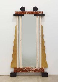 Ettore Sottsass, Del Diavolo Mirror, 1986, Massa Carrara marble, 82 x 5 1/4 x 45 in (208.3 x 13.3 x 114.3 cm)