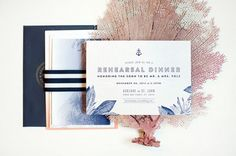 Ombre and Gold Foil Nautical Wedding Invitations by Carina Skrobeck Design via Oh So Beautiful Paper (8)