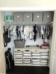 2019 Can you believe this kid's wardrobe? The post Nursery Closet Organization. 2019 appeared first on Nursery Diy. Baby Bedroom, Baby Boy Rooms, Baby Boy Nurseries, Baby Room Ideas For Boys, Baby Boy Nursey, Future Baby Ideas, Baby Boy Bedroom Ideas, Simple Baby Nursery, Babies Rooms
