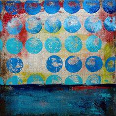 """dotted horizon I"" - 12x12x.15 canvas - mixed media - abstract - available"