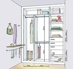 closet planta medidas - Pesquisa Google