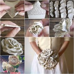 Nádherná kytice z papíru