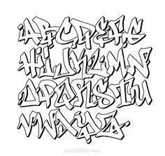 Tattoo Lettering Alphabet, Tattoo Lettering Design, Graffiti Lettering Fonts, Graffiti Writing, Hand Lettering Fonts, Graffiti Alphabet, Font Styles Alphabet, Font Alphabet, Graffiti Letters Styles