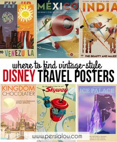 Where to Find Vintage-Style Disney Travel Posters - some are free to download online!