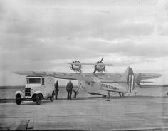 The automobile and the airplane ambulances of the Coast Guard at Cape May station, December 1936