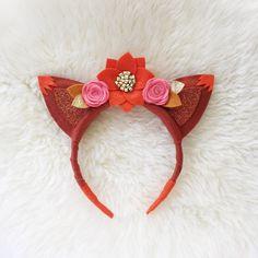 Fox Ears felt flower crown // woodland flower by BakerBlossoms