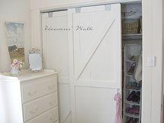 Heaven's Walk: Shabby Prairie Chic Remodel - Sliding barn door closet doors