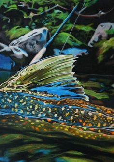 Bull Trout Speckled Trout by Sylvester found at http://finefishart.com/bull-trout.html