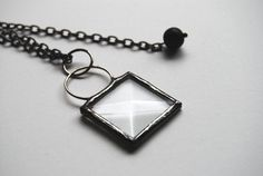 Stained Glass Jewelry Stain Glass Bevel Pendant by BayouGlassArts, $34.00