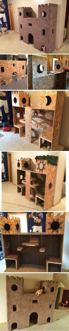 Plywood Cat Castle