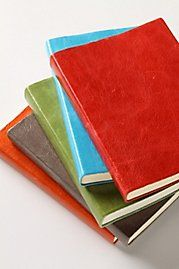 I love journals. Pretty shades and textures.
