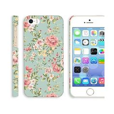 iPhone 5s case floral, Akna Retro Floral Series Vintage Flowers... ❤ liked on Polyvore featuring accessories and tech accessories