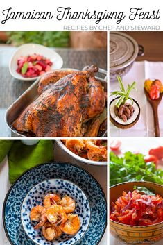 Low Unwanted Fat Cooking For Weightloss Jamaican Themed Thanksgiving Feast Recipes Chef And Steward Thanksgiving Feast, Thanksgiving Recipes, Holiday Recipes, Christmas Recipes, Yummy Appetizers, Appetizer Recipes, Dinner Recipes, Fun Recipes, Recipe Ideas