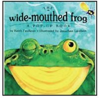 Finished June 9 The Wide-Mouthed Frog: a pop-up book by Keith Faulkner, illustrated by Jonathan Lambert This fun picture book was a gi. Frog Activities, Music Activities, Primary Activities, Letter Activities, Reading Activities, Pond Animals, Forest Animals, Frog Theme, Autism