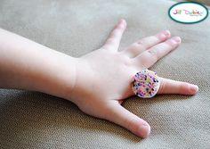 kids craft: milk carton tab rings...