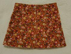 EUC Gymboree MIX AND MATCH Autumn Fall Corduroy Flower Skirt Skort Size 6 #Gymboree #DressyEveryday