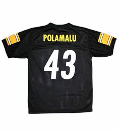 65512e05cc0 Pittsburgh Steelers  43 Troy Polamalu Football Jersey Mens Size Small  30.00