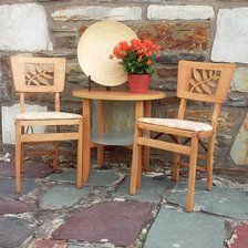 1940s Hollywood Regency Stakmore Folding Chairs