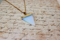 Opalite Pendant Gemstone Necklace Geometric Jewellery