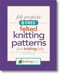 Free Ebook of felted knitting patterns