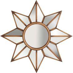 Pier One Starburst Mirror ($179) found on Polyvore