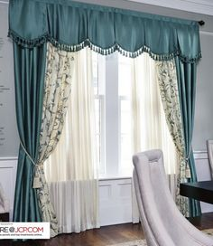 Modern Stair Railing, Beautiful Curtains, Home Curtains, Curtain Designs, French Country Decorating, Decoration, Valance, Living Room Decor, Diy Home Decor