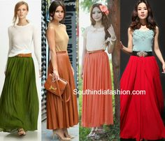 what tops to wear with long skirts indian