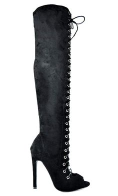 6193a0422fd Chase   Chloe Slim Heel Front Lace Up with Side Zipper Women s Thigh High  Boot - Fashion. World Shoe Trends