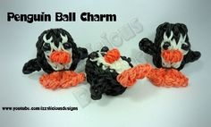 Rainbow Loom Penguin Ball Charm