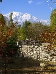 Backyard with Mountain View - Pamir Mountains, Tajikistan