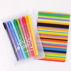 Book friends set of 10 vivid jalpen & vivid color note set presented wi Pens For Sale, Cute Pens, Gel Ink Pens, Friends Set, Planner Organization, Pen And Paper, Pen Sets, Writing Instruments, School Supplies