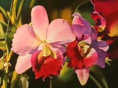 Spring Specials...The Orchid, painting by artist Jacqueline Gnott
