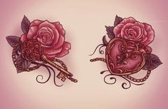 These are neat... lock and key tattoo, thinking this will be great for the final coverup
