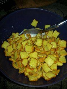 A towering bowl of French Toast Crunch:   50 Things That Look Just Like Your Childhood