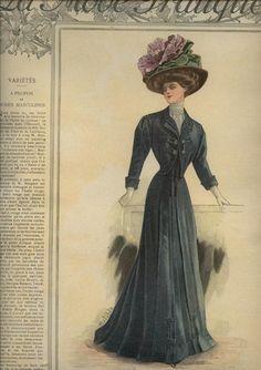 1908 La Mode Pratique, blue suit