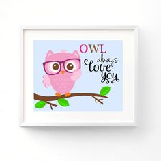 OWL always Love You  Owl Nursery Premium by GinaBeanBoutique