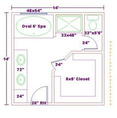 Master Bathroom Floor Plans Pictures