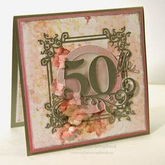 The Urban Scrapbook inc. 50th card by Jan Hobbins