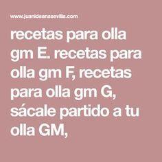 Olla Gm G, Paella, Rica Rica, Diet Ideas, Model, Casserole Recipes, Food Processor, Pots, Nativity Sets