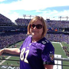 Gwen Robinson, Ravens OFR at M&T Bank Stadium Sept 4/14 Opening Day!! .....@GWEN2475