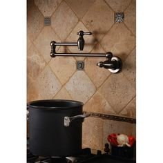 Pot filler faucet...WANT!  Wish I could have one of those.