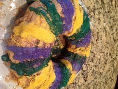 Gluten Free King Cake. A must for your Mardi Gras celebration