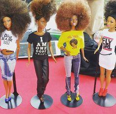 Push thru black barbie Black Girls Rock, Black Girl Magic, Segura Essa Marimba, Pin Up, Diva Dolls, Dolls Dolls, Big Curls, African American Dolls, African Dolls