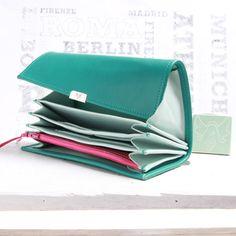women leather wallets, long wallets, accordion wallets, handmade