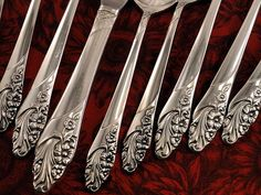 Oneida Community EVENING STAR Vintage 1950 Silver Plate Flatware Silverware Set Dinner Service for 4, 8 or 12